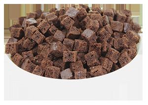 Cubitos de brownie